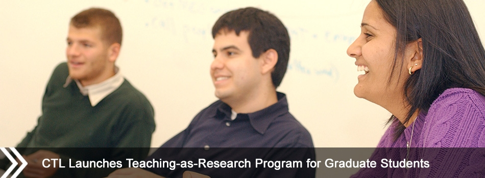 CTL Launches Teaching-as-Research Program for Graduate Students
